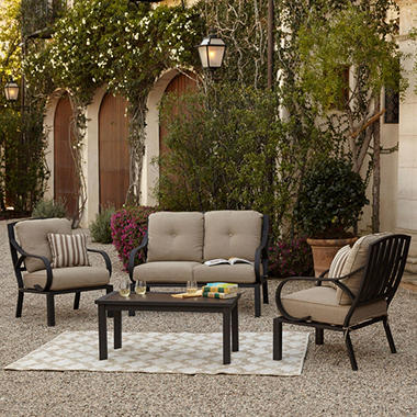 Royal Garden St. James 4 Piece Patio Conversation Set