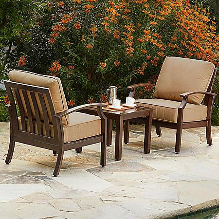 Royal Garden Oakmont 3 Piece Patio Seating Chat Set (Various Colors)
