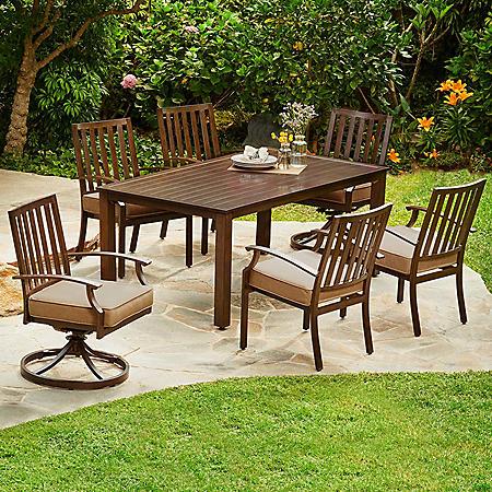 Royal Garden Oakmont 7-Piece Patio Cushion Dining Set (Various Colors)