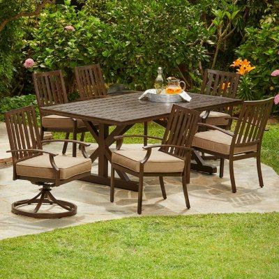 Incroyable Royal Garden Oakmont 7 Piece Patio Cushion Dining Set (Various Colors)