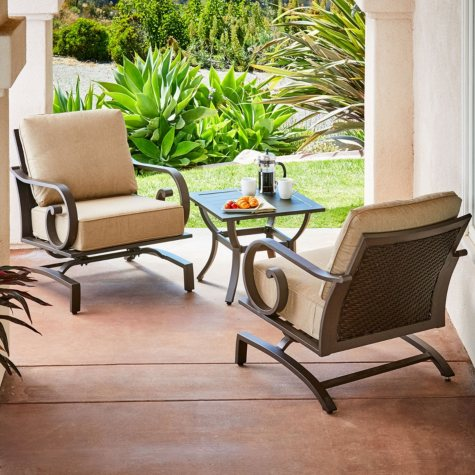 Royal Garden Monte Carlo 3 Piece Patio Seating Chat Set (Various Colors)
