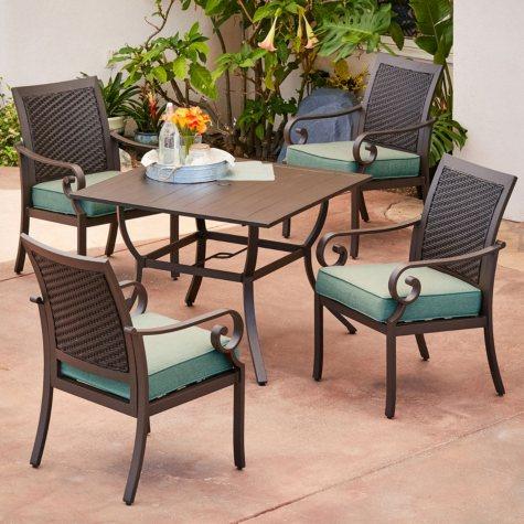 Royal Garden Monte Carlo 5-Piece Patio Dining Set (Various Colors)