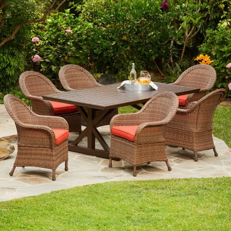 Royal Garden Boca 7-Piece Patio Dining Set