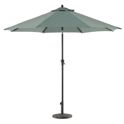 Royal Garden Outdoor 9u0027 Crank/Tilt Market Umbrella (Various Colors)