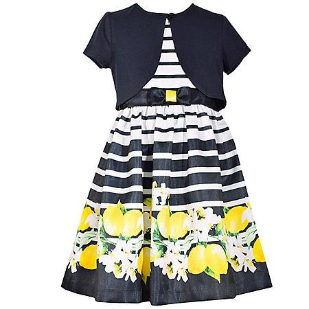 Jessica Ann Navy Stripe Cardigan Dress