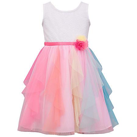 Jessica Ann Girls Rainbow Cascade Dress