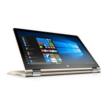 "HP Pavilion X360 2-in-1 Touchscreen Convertible Full HD IPS 15.6"" Notebook, Intel Core i7-8550U Processor, 8GB Memory, 1TB Hard Drive, 2GB Radeon DSC 530, HD Wide FOV Webcam, Backlit Keyboard, B&O Play Audio, 2 Year Warranty Care Pack, Silk Gold"