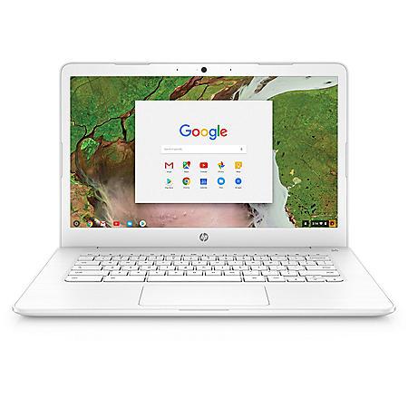 "HP 14"" HD Chrome Notebook, Intel Celeron N3350 Processor, 4GB Memory, 16GB eMMC HDD, Intel HD Graphics 500, HD Webcam, B&O Play Audio, Chrome OS"
