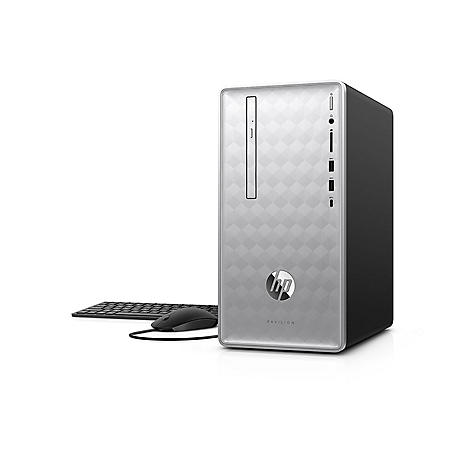 HP Pavilion Desktop Tower, Intel Core i7-8700 Processor, 16GB Memory, 2TB Hard Drive, 2GB AMD Radeon 520 GFX Graphics, Optical Drive, HP Audio, Keyboard and Mouse, 2 Year Warranty Care Pack, Windows 10 Home