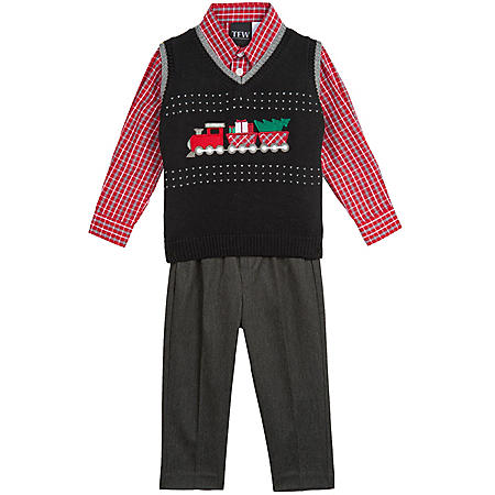 TFW 3-Piece Boy's Holiday Sweater Vest Set