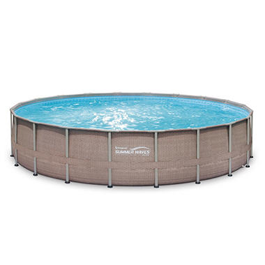 20 X 48 Quot Summer Waves Elite Frame Pool Set With Mosaic