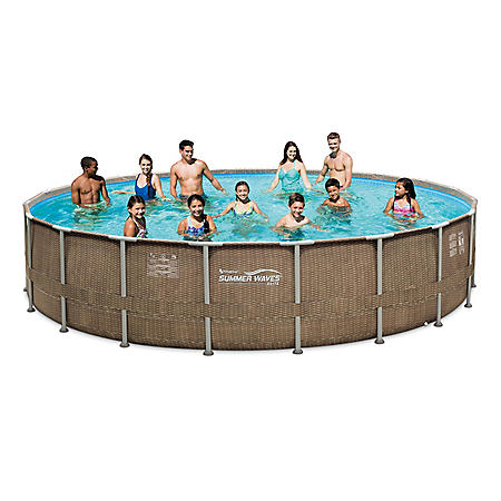 """20'x48"""" Summer Waves® EliteFrame Pool Set with Mosaic printing"""