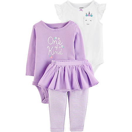 Carter's 3-Piece Purple Tutu Bodysuit Pant Set