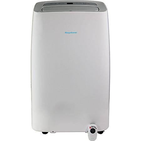 "Keystone 115V Portable Air Conditioner with ""Follow Me"" Remote Control for Rooms up to 350-Sq. Ft."