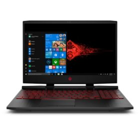 "HP OMEN Gaming 15.6"" Full HD IPS Notebook, Intel Core i7-8750H Processor, 24GB Memory:  16GB Intel Optane + 8GB RAM, 1TB Hard Drive, HD Wide FOV Webcam, USB C Media, 2 Zone Color Backlit Keyboard, VR Ready, 2 Year Warranty Care Pack, Windows 10"