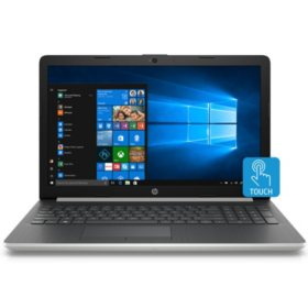 "HP Touchscreen 15.6"" HD Notebook, Intel Core i5-8250U Processor, 8GB Memory, 2TB Hard Drive, Optical Drive, HD Webcam, Backlit Keyboard, 2 Year Warranty Care Pack, Available in: Natural Silver, Pale Gold, Twilight Blue"