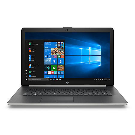 "HP 17.3"" HD+ Notebook, Intel Core i3-8130U Processor, 4GB Memory, 1TB Hard Drive, Optical Drive, HD Webcam, 2 Year Warranty Care Pack, Windows 10 Home, Available in: Smoke Gray, Natural Silver, Pale Gold, Twilight Blue"