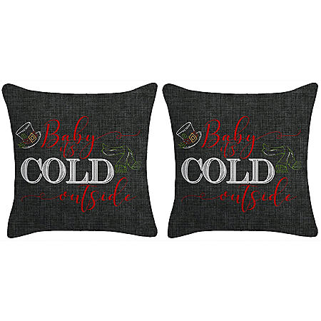 Holiday Pillow, Set of 2 (Baby, It's Cold)