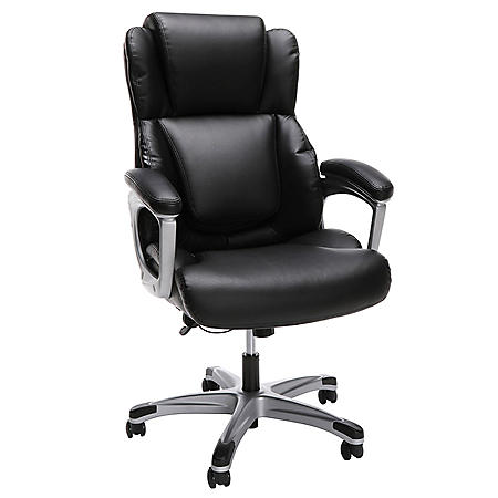 OFM Essentials Collection Ergonomic Executive Bonded Leather Office Chair, in Black (ESS-6033-BLK)