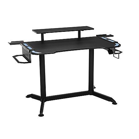 RESPAWN 3010 Gaming Computer Desk - Ergonomic Height Adjustable Gaming Desk, Choose a Color (RSP-3010)