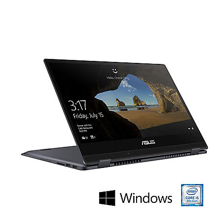 "ASUS VivoBook Flip Touchscreen 2-in-1 14"" Full HD Laptop, Intel Core i5-8265U, 8GB Memory, 512GB SSD, Fingerprint Reader, Wi-Fi 5, Windows 10 Home, Star Grey"