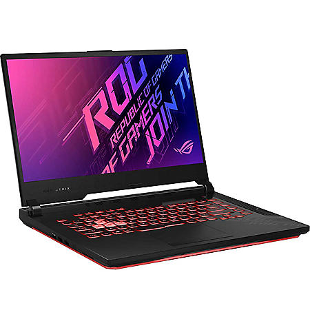"""ASUS - ROG Strix G15 - 15.6"""" Full HD Gaming Laptop - 10th Gen Intel Core i7 -  16GB Memory - 512GB Solid State Drive - NVIDIA GeForce GTX 1650Ti - Backlit RGB Keyboard - 2 Year Warranty Care Pack - Windows 10 Home"""