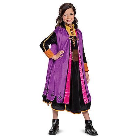 Girls Anna Frozen 2 Prestige Costume
