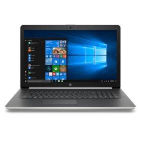 "HP 17.3"" HD+ Notebook, Intel Core i7-8550U Processor, 20GB Memory:  16GB Intel Optane + 4GB RAM, 2TB Hard Drive, Optical Drive, HD Webcam, HD Audio, 2 Year Warranty Care Pack, Windows 10 Home, Natural Silver"