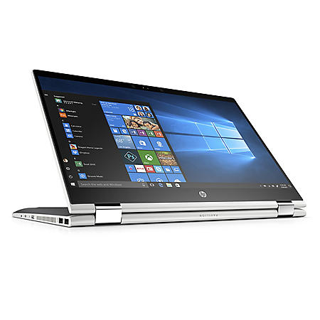 "HP Pavilion X360 Convertible Touchscreen 15.6"" Full HD IPS Notebook, Intel Core i7-8550U Processor, 24GB Memory:  16GB Intel Optane + 8GB RAM, 1TB Hard Drive, HD Wide FOV Webcam, B&O Play Audio, 2 Year Warranty Care Pack, Windows 10 Home Plus, Silver"