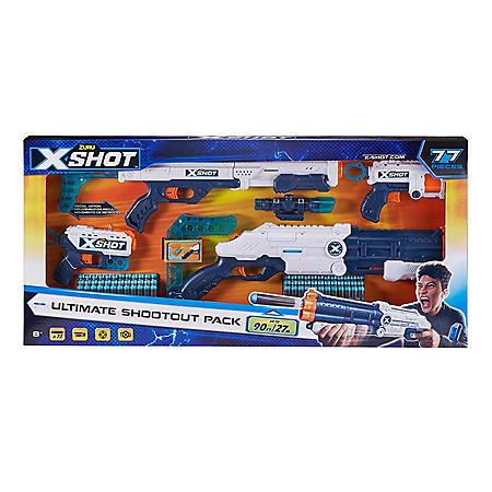 X-Shot Ultimate Shootout Pack (4 Blasters, 72 Darts)