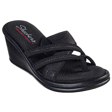 Skechers Black Wedge
