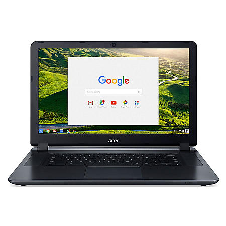 """Acer 15.6"""" HD Chromebook, Intel Atom x5-E8000 Quad-Core Processor, 4GB LPDDR3 Memory, 16GB eMMC Storage, Chrome OS"""