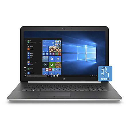 "HP Touchscreen 17.3"" HD+ Laptop, Intel Core i7-8565U, 8GB Memory, 512GB Solid State Drive, TrueVision HD Webcam, Optical Drive, 2 Year Warranty Care Pack, Windows 10 Home, Multiple Colors"