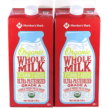 Member's Mark Organic Whole Milk (64 fl. oz., 2 pk.)