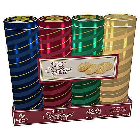 Member's Mark European 4-Pack Shortbread Cookies (Various Colors)