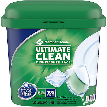 Member's Mark Ultimate Clean Unit Dose Auto Dish Detergent (105 ct.)