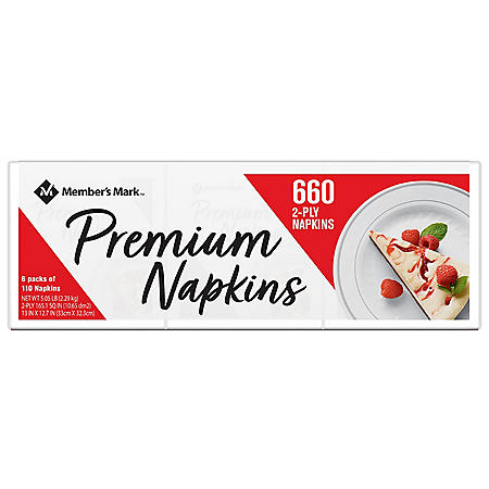Member's Mark 2-Ply Everyday Premium White Napkins (660 ct.)