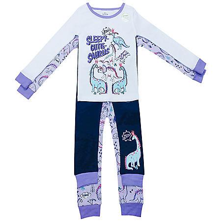 Member's Mark Girl's 4-Piece Cotton Pajama Set