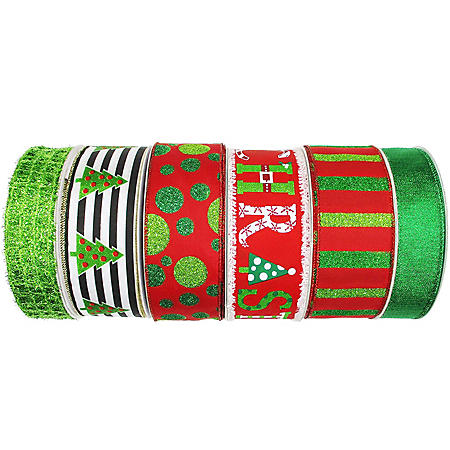 Member's Mark Premium Wired Holiday Ribbon (Christmas Classic)