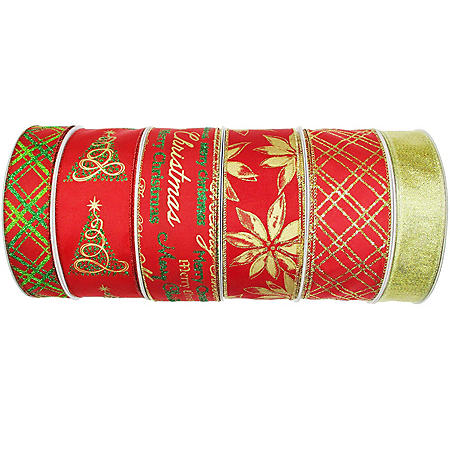 Member's Mark Premium Wired Holiday Ribbon (Christmas Whimsy)