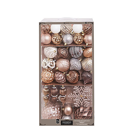 Member's Mark 76 ct. Shatterproof Ornament Collection Reflections
