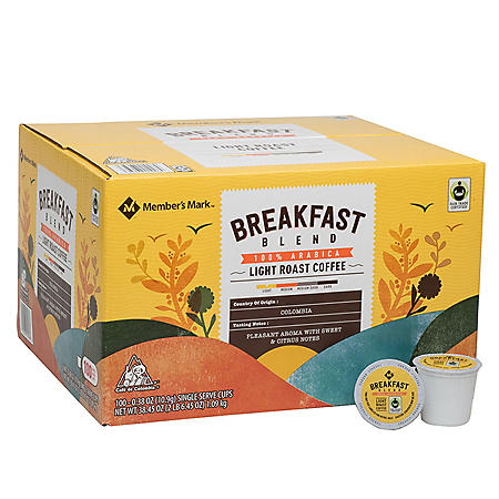 Member's Mark Single-Serve Coffee Pods, Breakfast Blend (100 ct.)