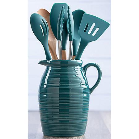 7-Piece Crock and Kitchen Tool Set (Various Colors)