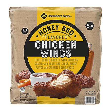 Member's Mark Honey Barbecue Chicken Wings, Bone in (5 lb.)