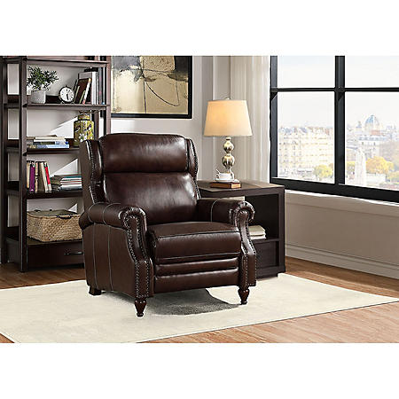 Member's Mark Macey Brown Leather Recliner