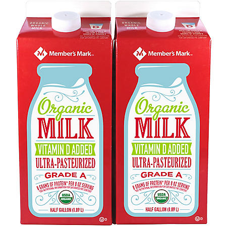 Member's Mark Organic Whole Milk (64 oz., 2 ct.)