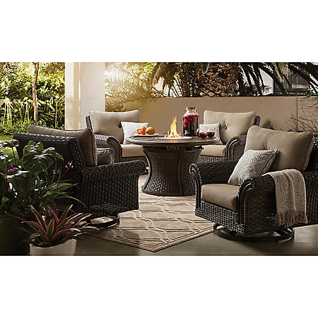 Member's Mark Mystic Ridge 5-Piece Gas Firepit Chat Set
