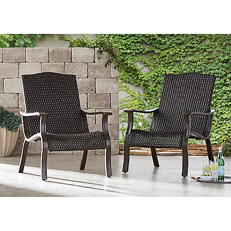 Member's Mark Agio Heritage 2-Pack Woven Adirondack Chair