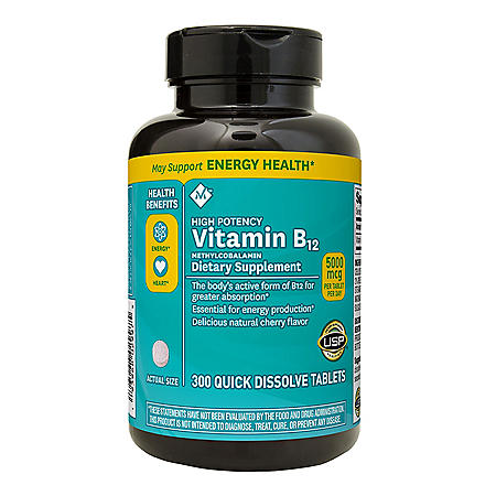 Member's Mark Sublingual Vitamin B12 5000mcg Methylcobalamin (300 ct.)
