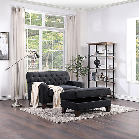 Sutton Chair and Ottoman Set